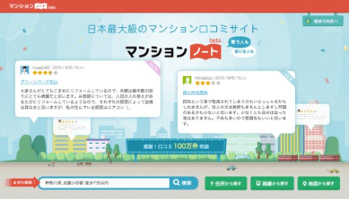 住まいの情報を整理し尽くす! 日本最大のマンション口コミサイト「マンションノート」を開発する Webエンジニアを募集