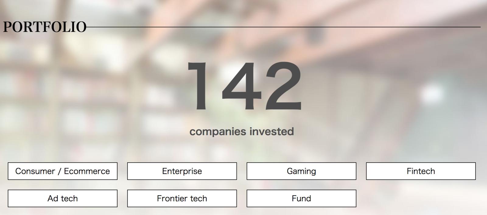 出資先企業数