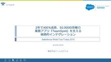 2年で400%成長、50,000ID突破の業務アプリ『TeamSpirit』を支える継続的インテグレーション