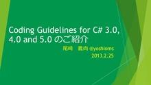 C#coding guideline 20130226