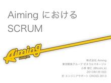 Aiming における scrum 20130118
