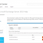 Exchange Server 2013のヘルプファイル() | Exchange Server Blog