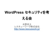 Word presssecurity
